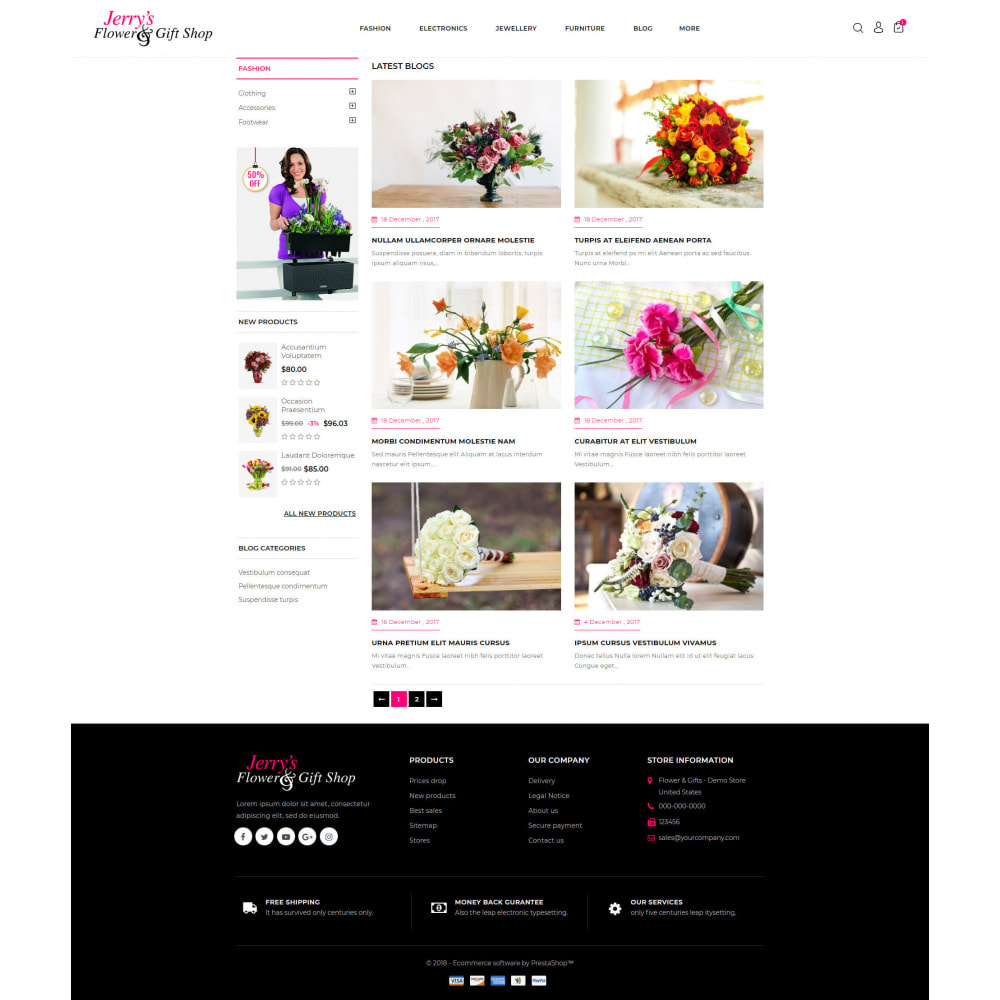 theme - Gifts, Flowers & Celebrations - Flower & Gift Store - 9