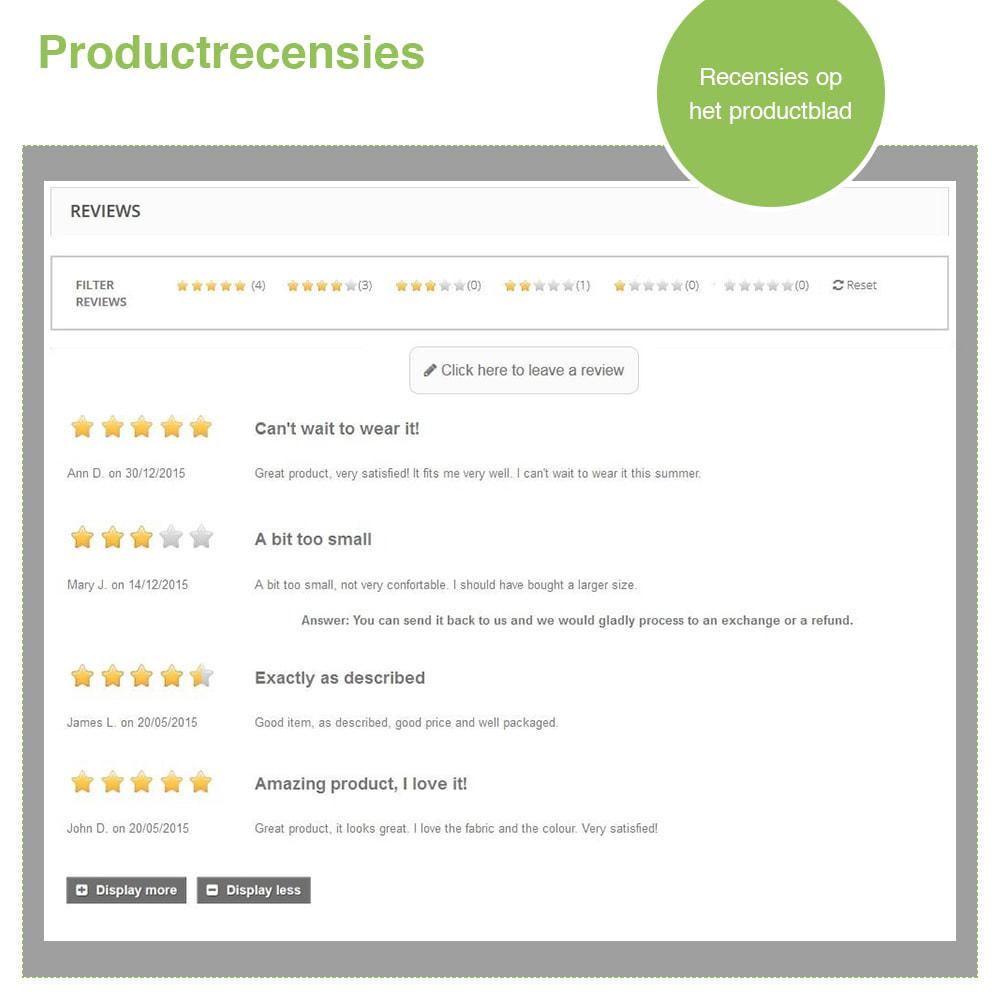 module - Klantbeoordelingen - Shop Recensies + Productbeoordelingen + Rich Snippets - 19