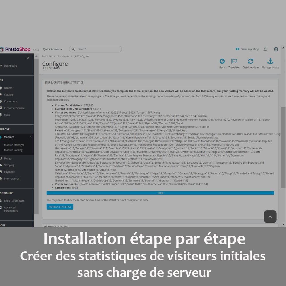 module - Personnalisation de Page - Statistiques des visiteurs sur la page d'accueil - 7