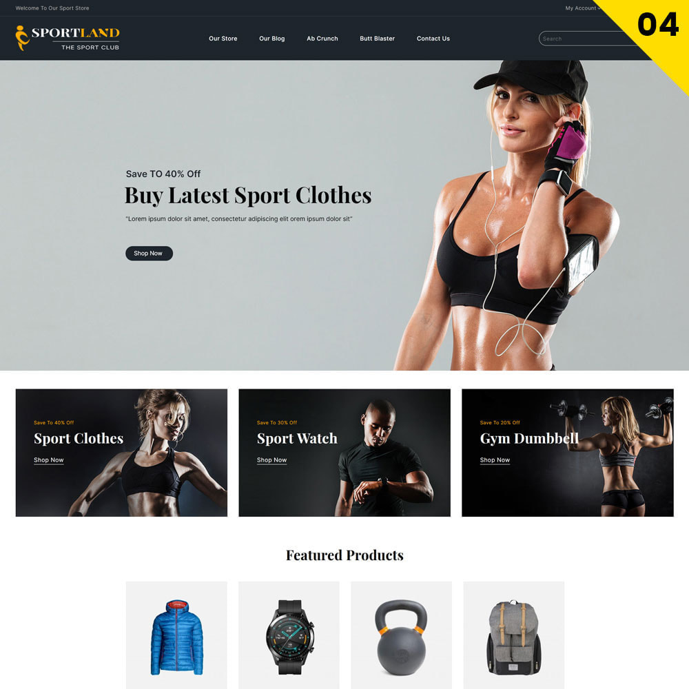 theme - Sport, Rozrywka & Podróże - Sport Land - The Mega Sport Store - 6