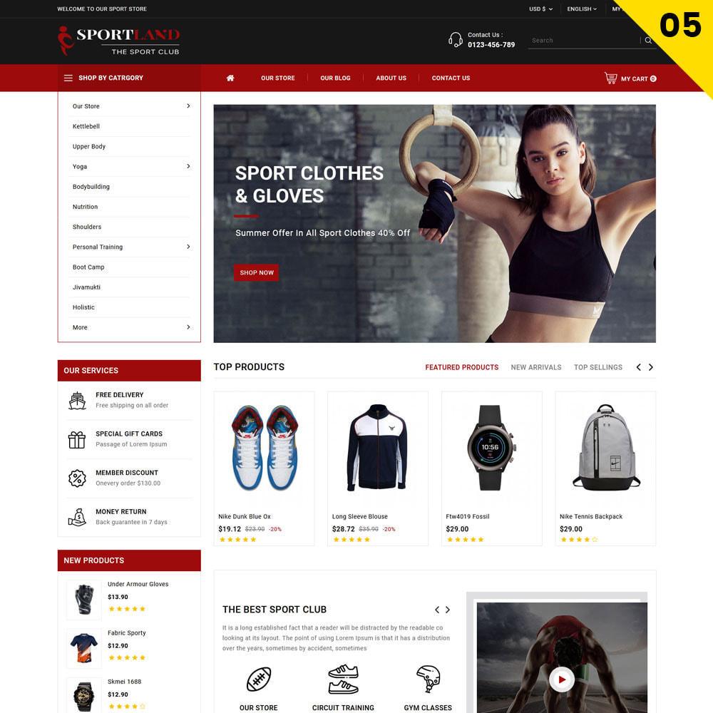 theme - Sport, Rozrywka & Podróże - Sport Land - The Mega Sport Store - 7