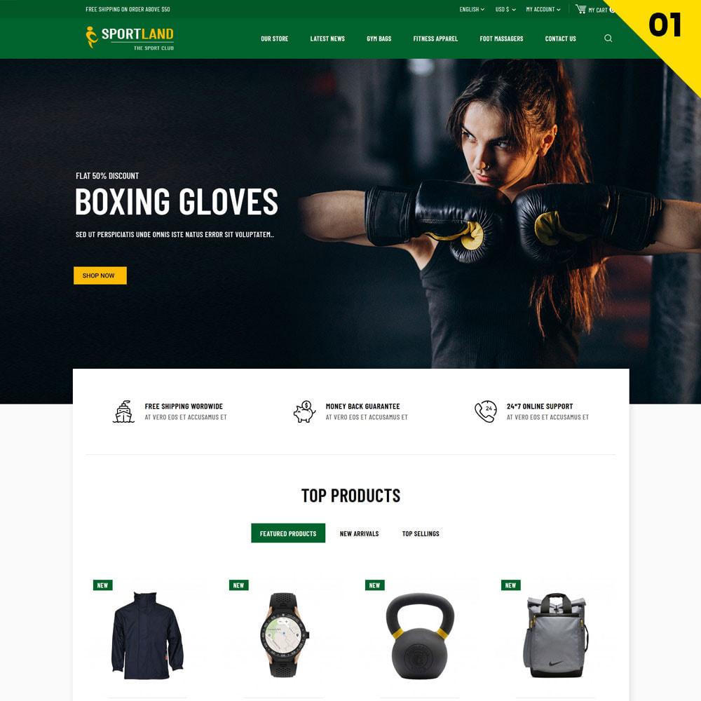 theme - Sport, Attività & Viaggi - Sport Land - Il negozio di articoli sportivi Mega - 3