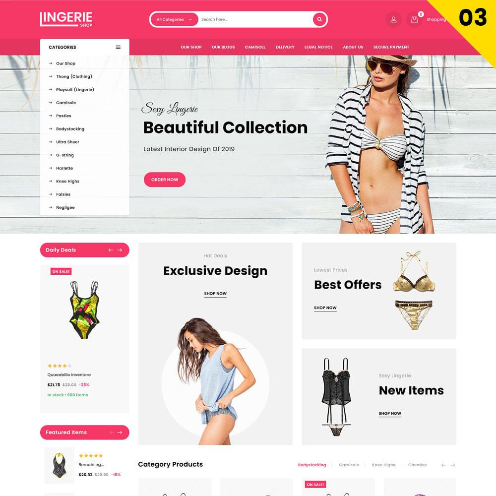 theme - Lingerie & Adulte - Lingerie Shop Le magasin de lingerie - 5