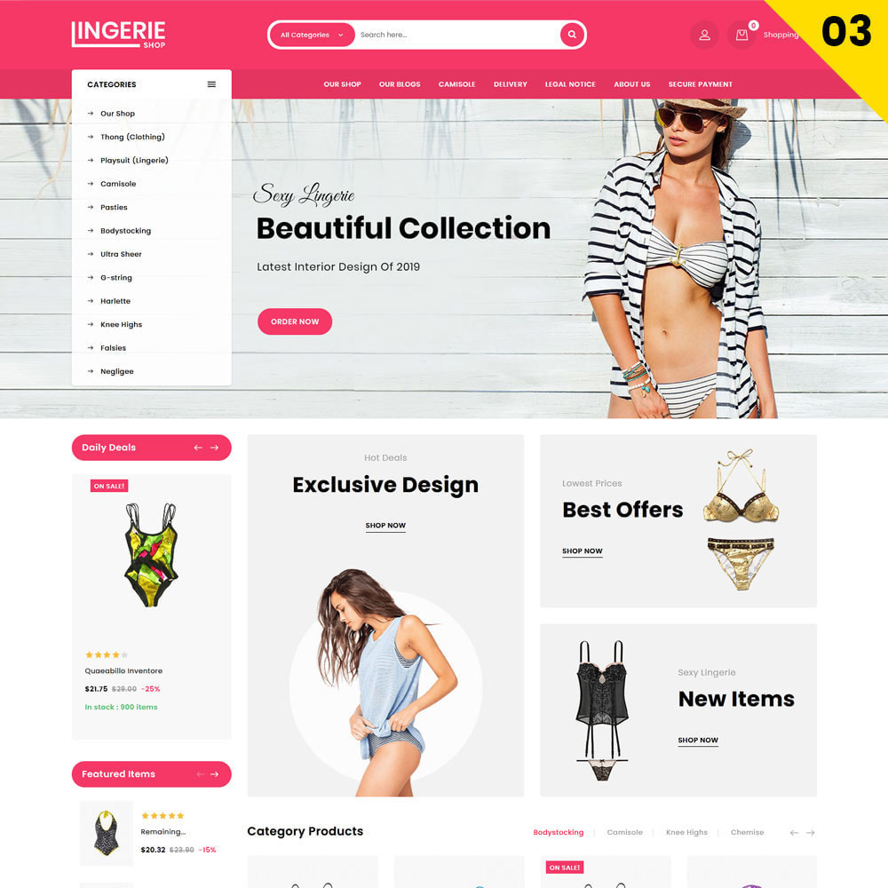theme - Lingerie & Adulti - Lingerie Shop Il negozio di abbigliamento intimo - 5