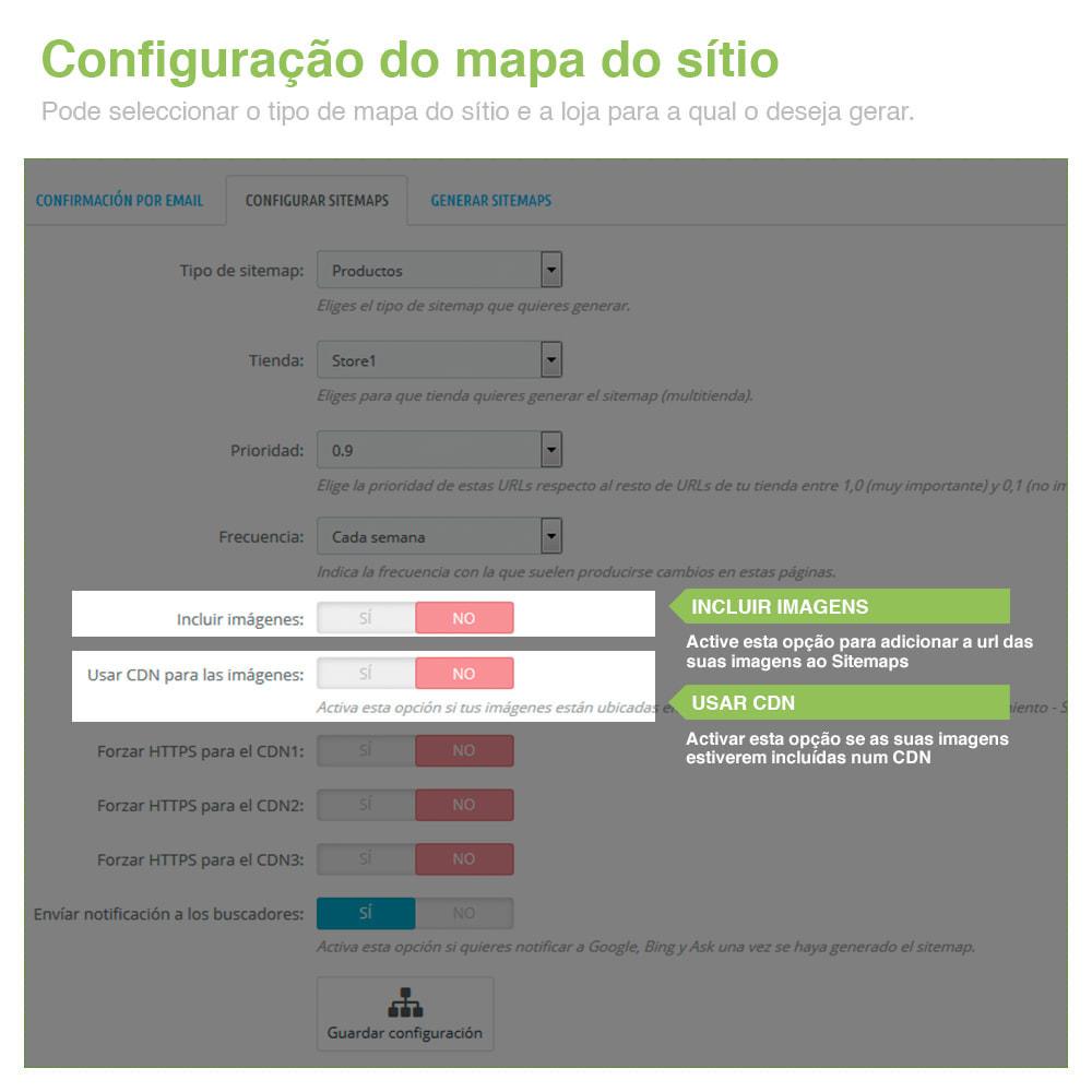 module - SEO (Referenciamento natural) - Sitemaps Pro Multi-Idiomas e Multi-Lojas – SEO - 4