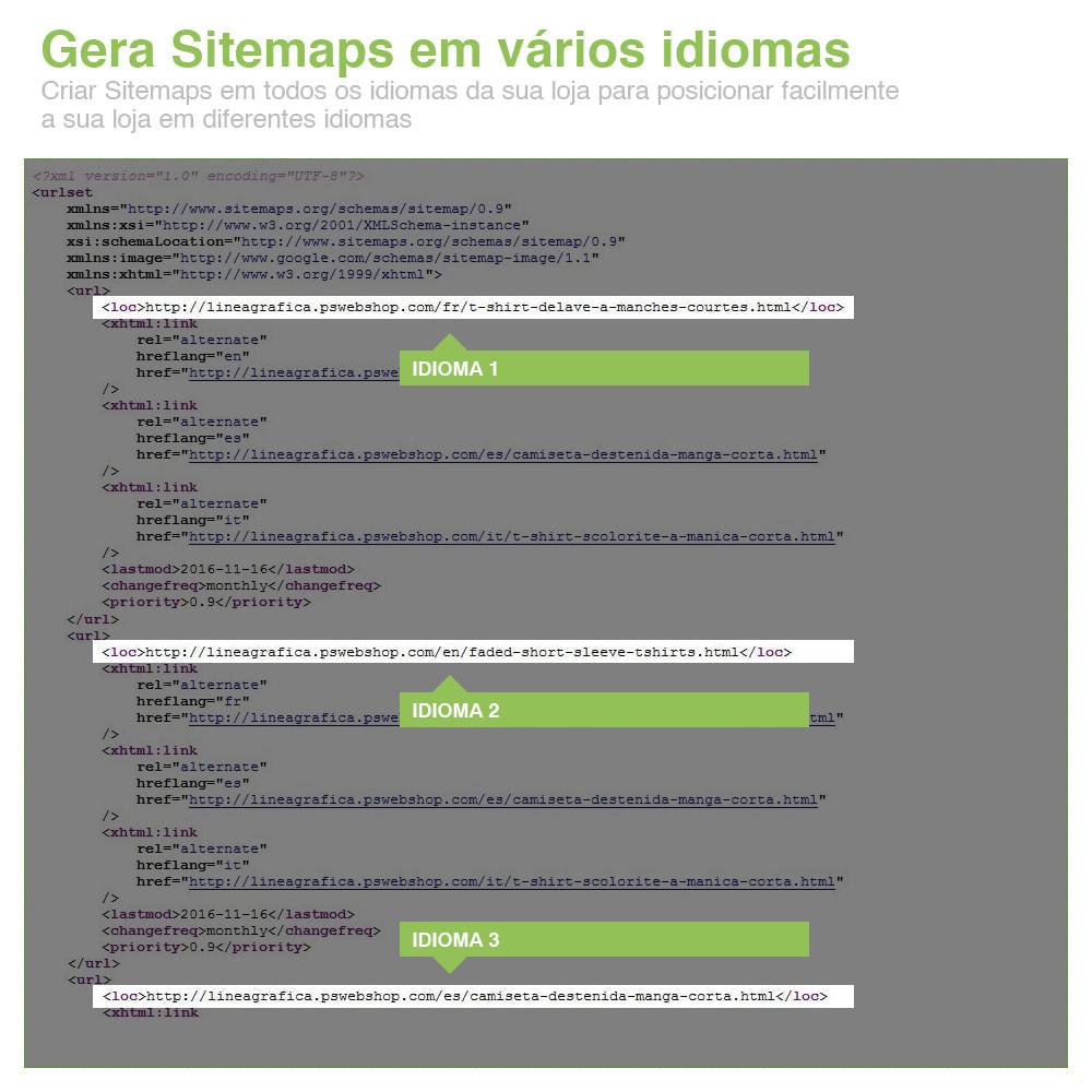 module - SEO (Referenciamento natural) - Sitemaps Pro Multi-Idiomas e Multi-Lojas – SEO - 13