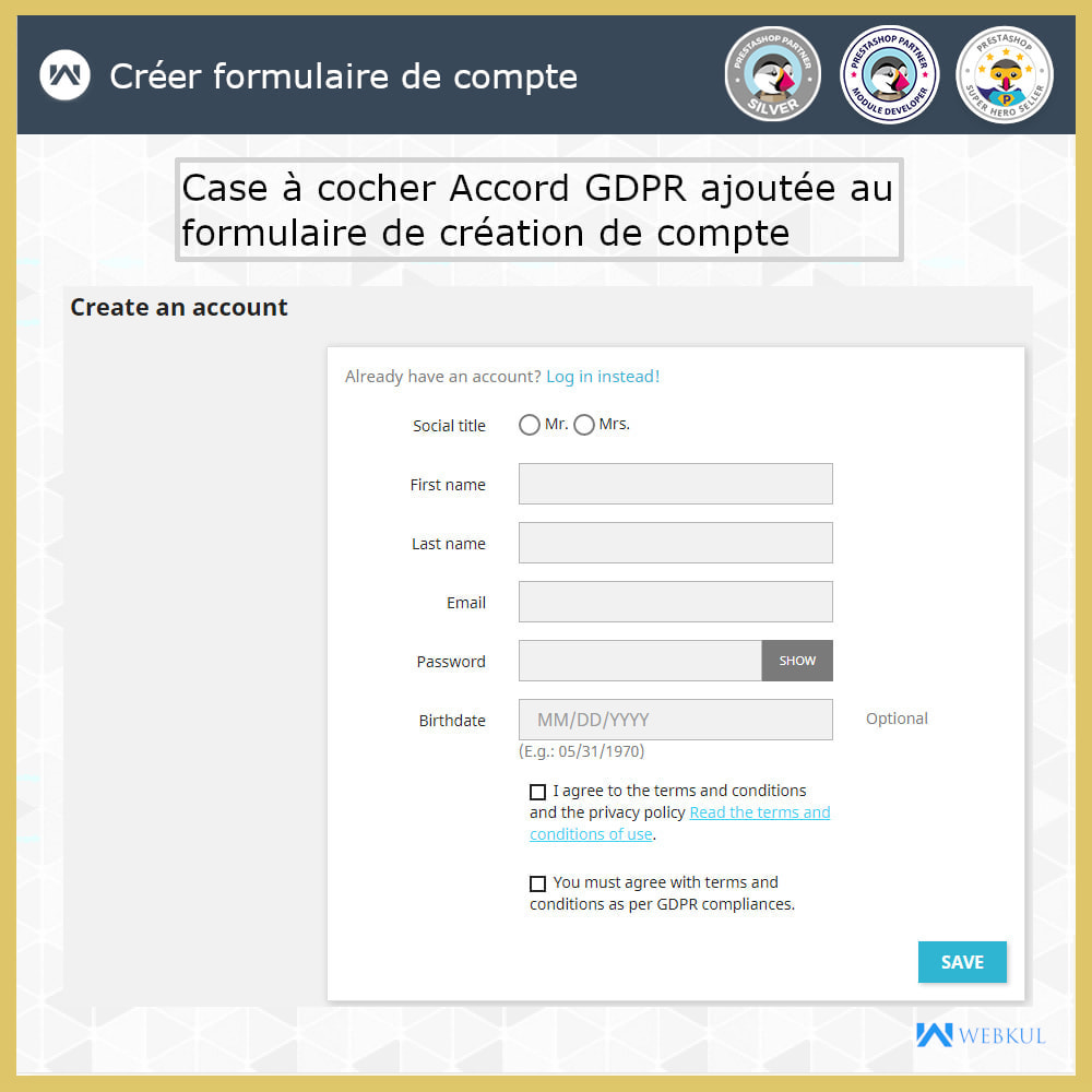module - Législation - Conformité GDPR - 2