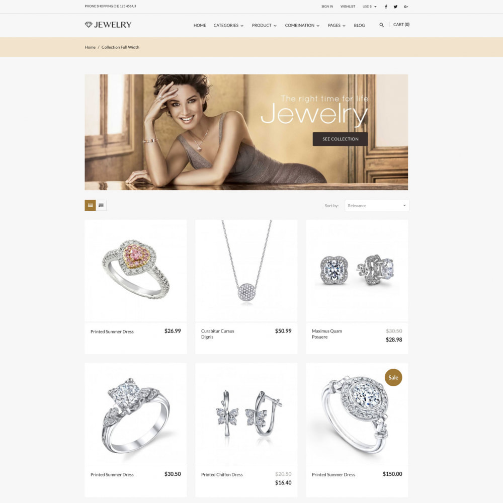 theme - Biżuteria & Akcesoria - Beauty & Jewelry Responsive Store - 2