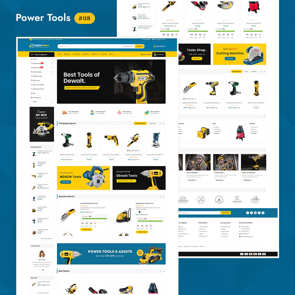 theme - Elettronica & High Tech - Digital Mart - Multi-purpose Mega Store - 9