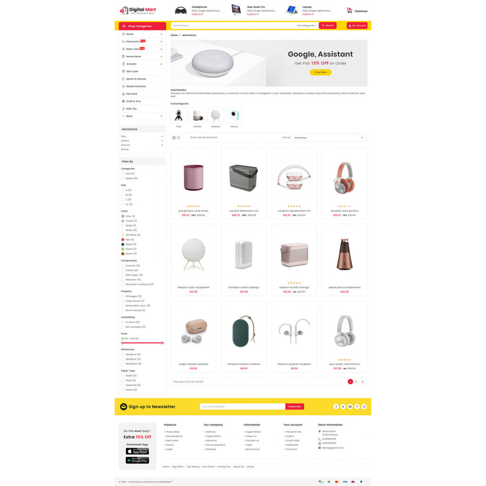 theme - Elettronica & High Tech - Digital Mart - Multi-purpose Mega Store - 13