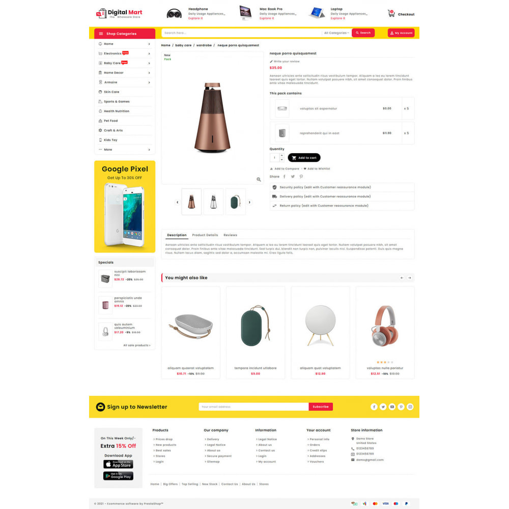 theme - Elettronica & High Tech - Digital Mart - Multi-purpose Mega Store - 15