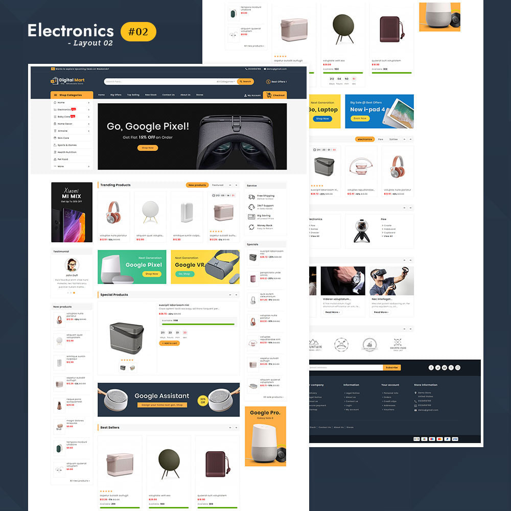 theme - Elektronica & High Tech - Digital Mart - Multi-purpose Mega Store - 3