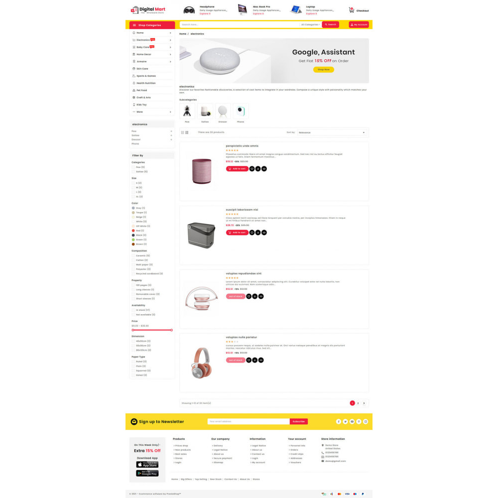 theme - Elektronica & High Tech - Digital Mart - Multi-purpose Mega Store - 14