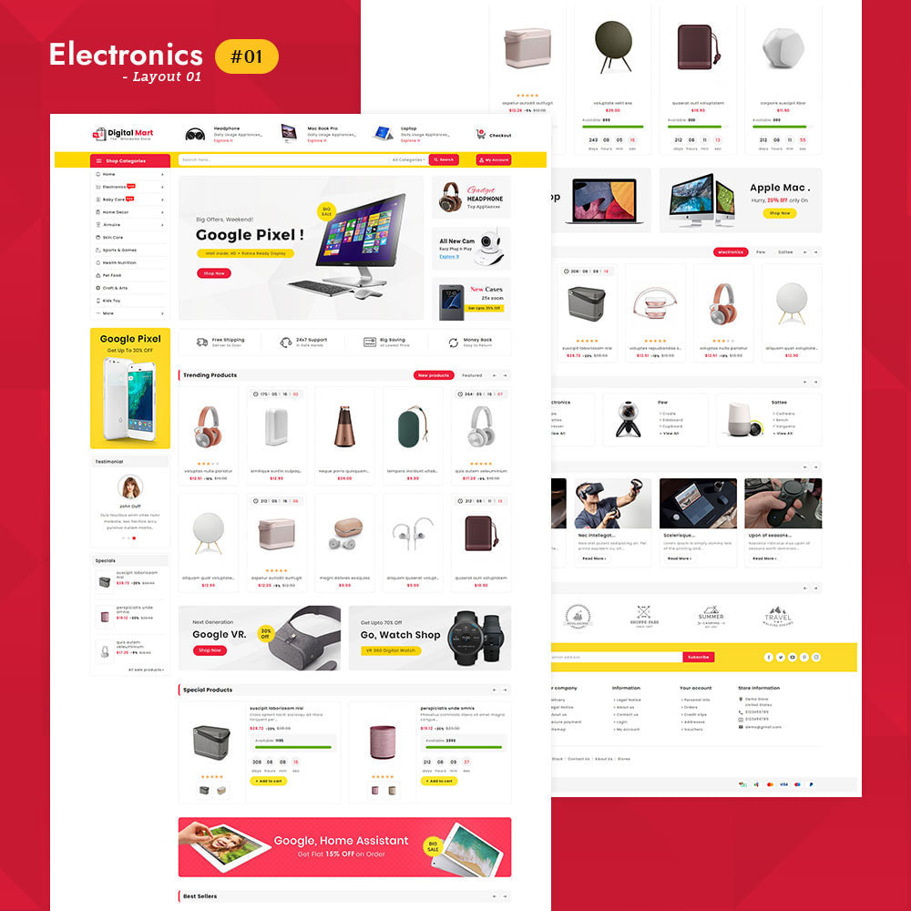 theme - Elektronika & High Tech - Digital Mart - Multi-purpose Mega Store - 2