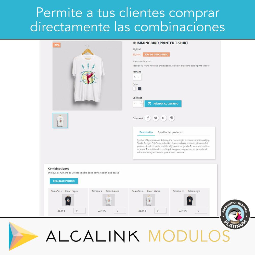 module - Combinaciones y Personalización de productos - Lista de combinaciones en ficha de producto - 2