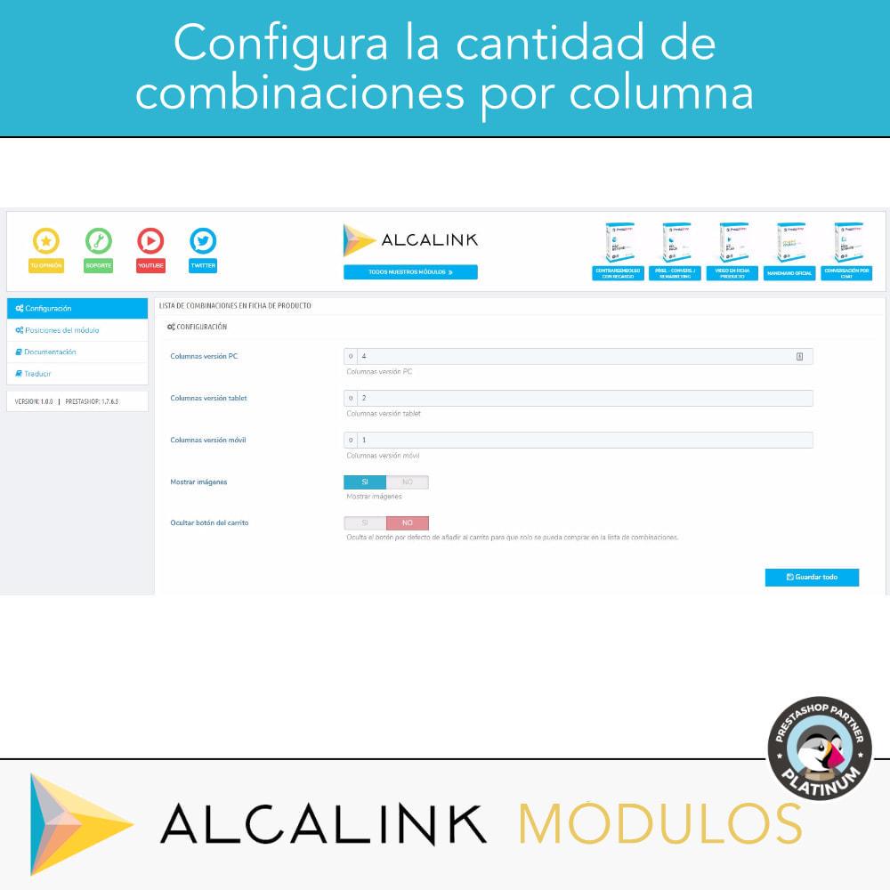module - Combinaciones y Personalización de productos - Lista de combinaciones en ficha de producto - 4