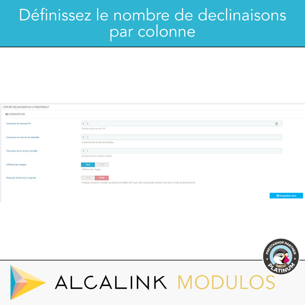 module - Déclinaisons & Personnalisation de produits - Liste des déclinaisons dans la fiche produit - 4