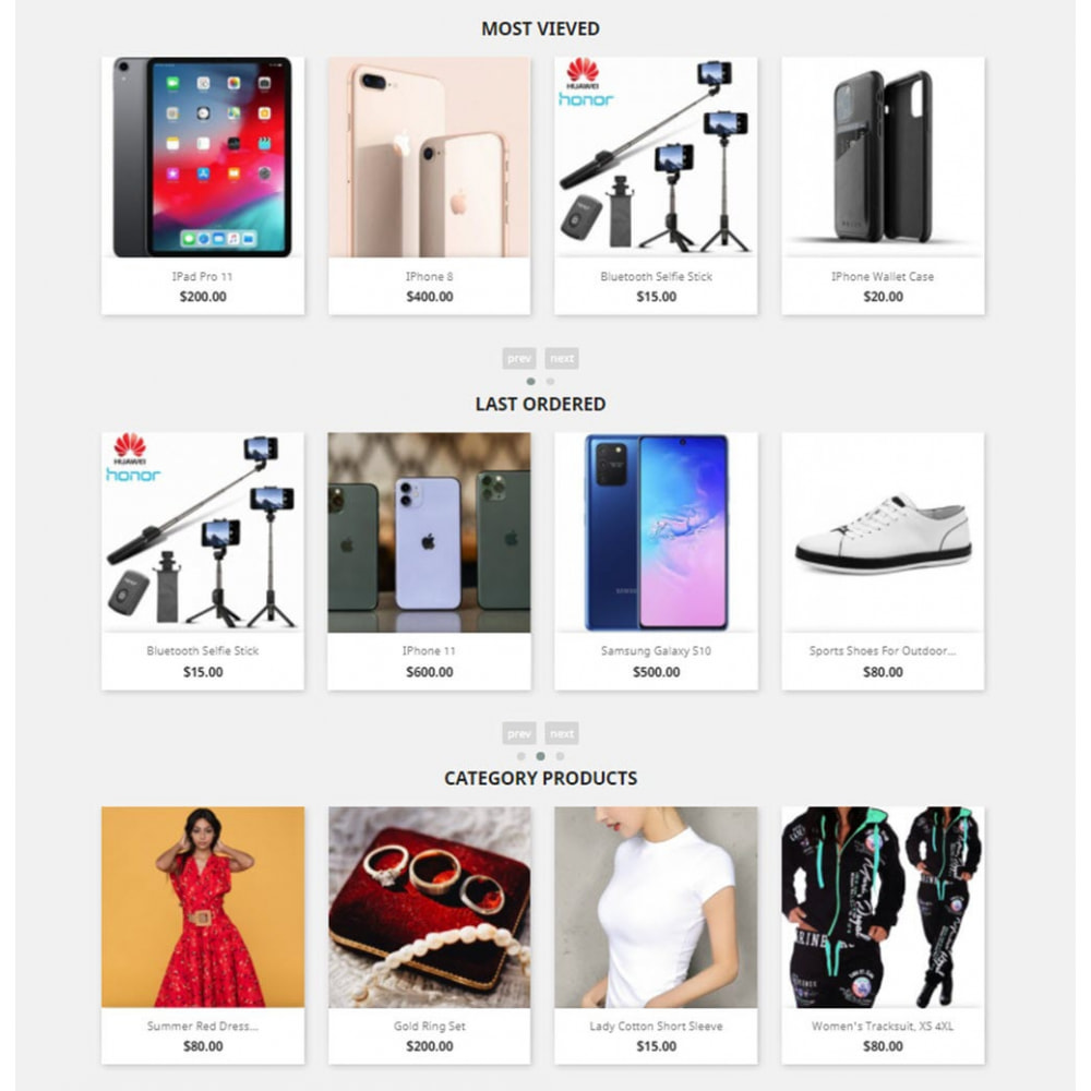 module - Sliders & Galeries - Carousels Pack - Instagram, Products, Brands, Supplier - 2