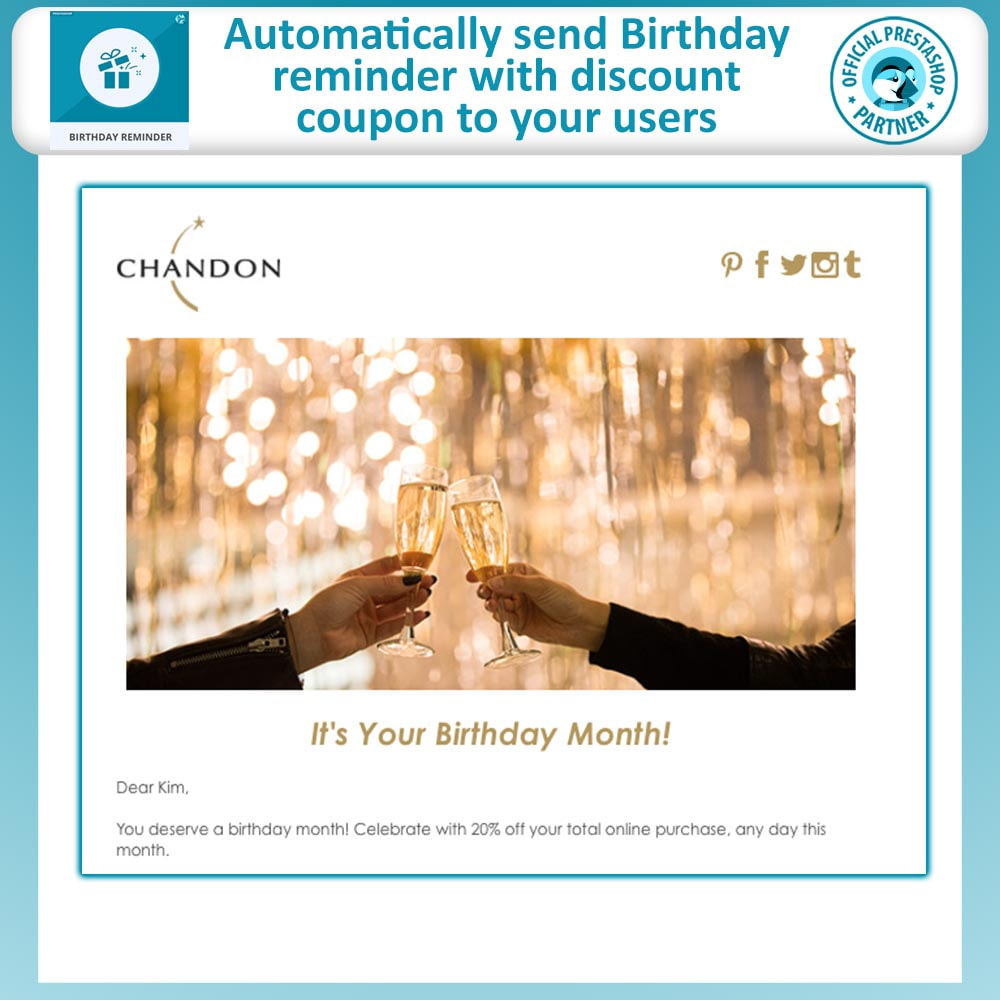 module - Remarketing & Shopping Cart Abandonment - Birthday Reminder - 2
