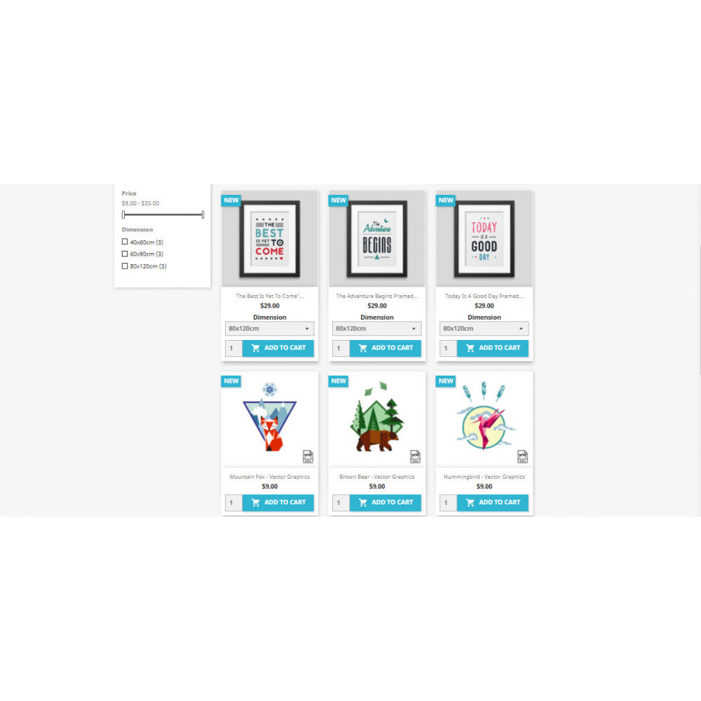 module - Deklinacje & Personalizacja produktów - Display combinations / attributes on Listing Products - 2