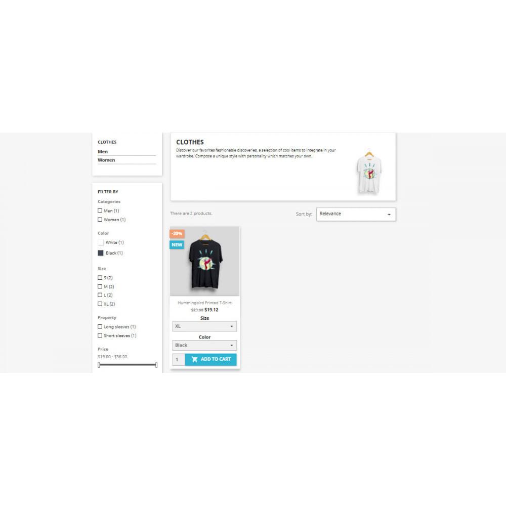 module - Deklinacje & Personalizacja produktów - Display combinations / attributes on Listing Products - 3