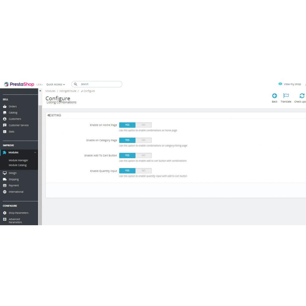 module - Deklinacje & Personalizacja produktów - Display combinations / attributes on Listing Products - 4