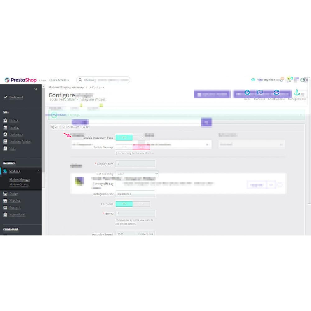 module - Produkty w serwisach społecznościowych - Social Feed Slider - Instagram New API - 1
