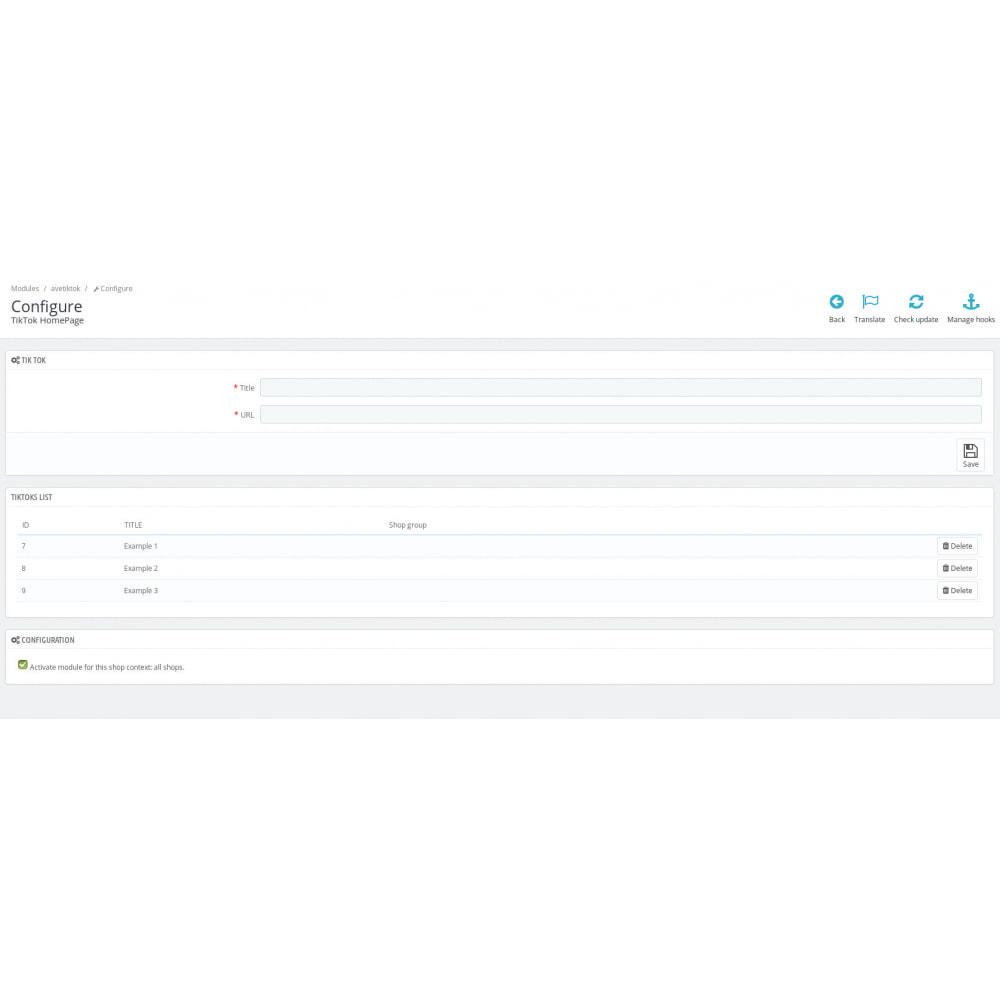 module - Social Widget - TikTok Slider - 4