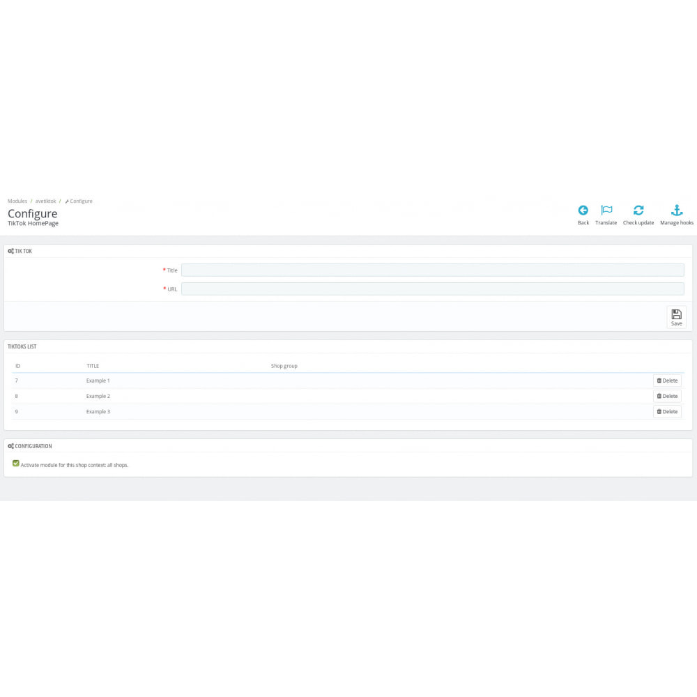 module - Widgets para redes sociales - TikTok Slider - 4