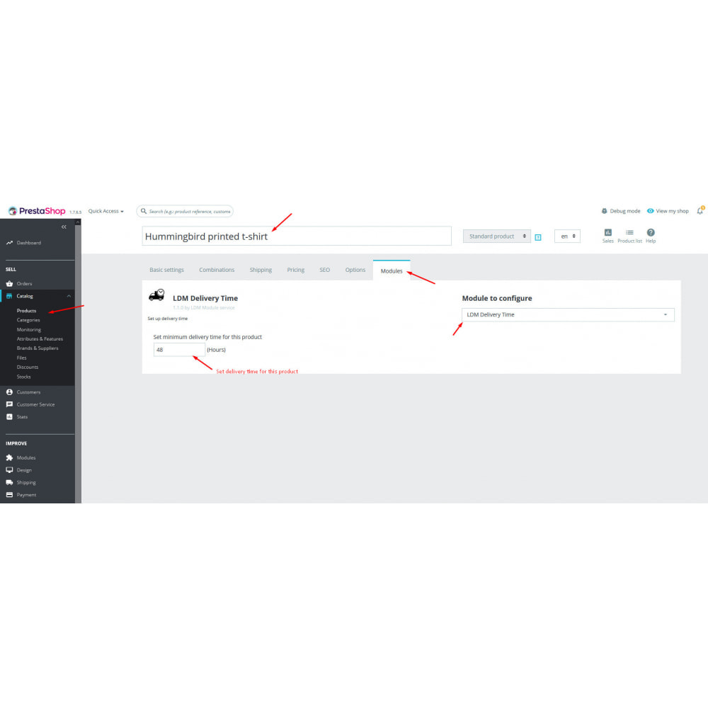 module - Data de entrega - Delivery time - 7