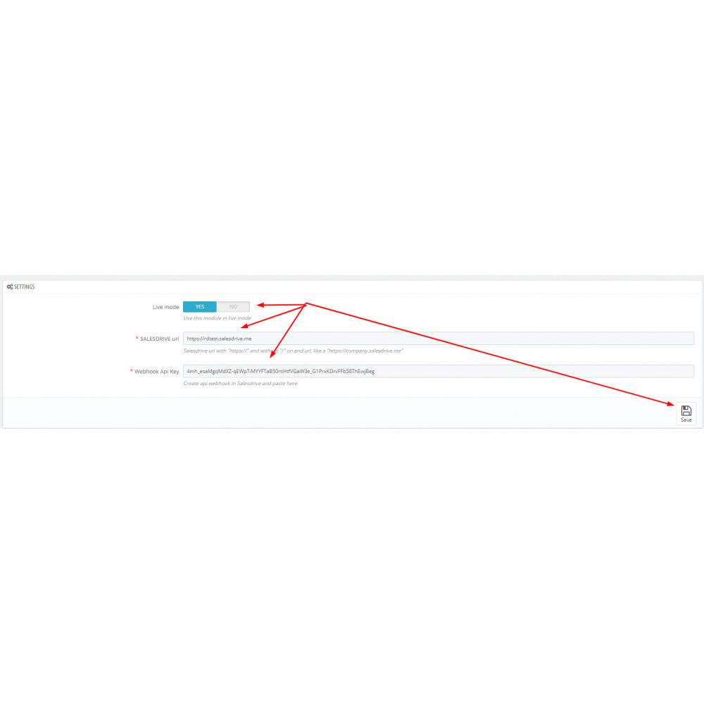 module - Third-party Data Integration (CRM, ERP...) - Salesdrive - 4