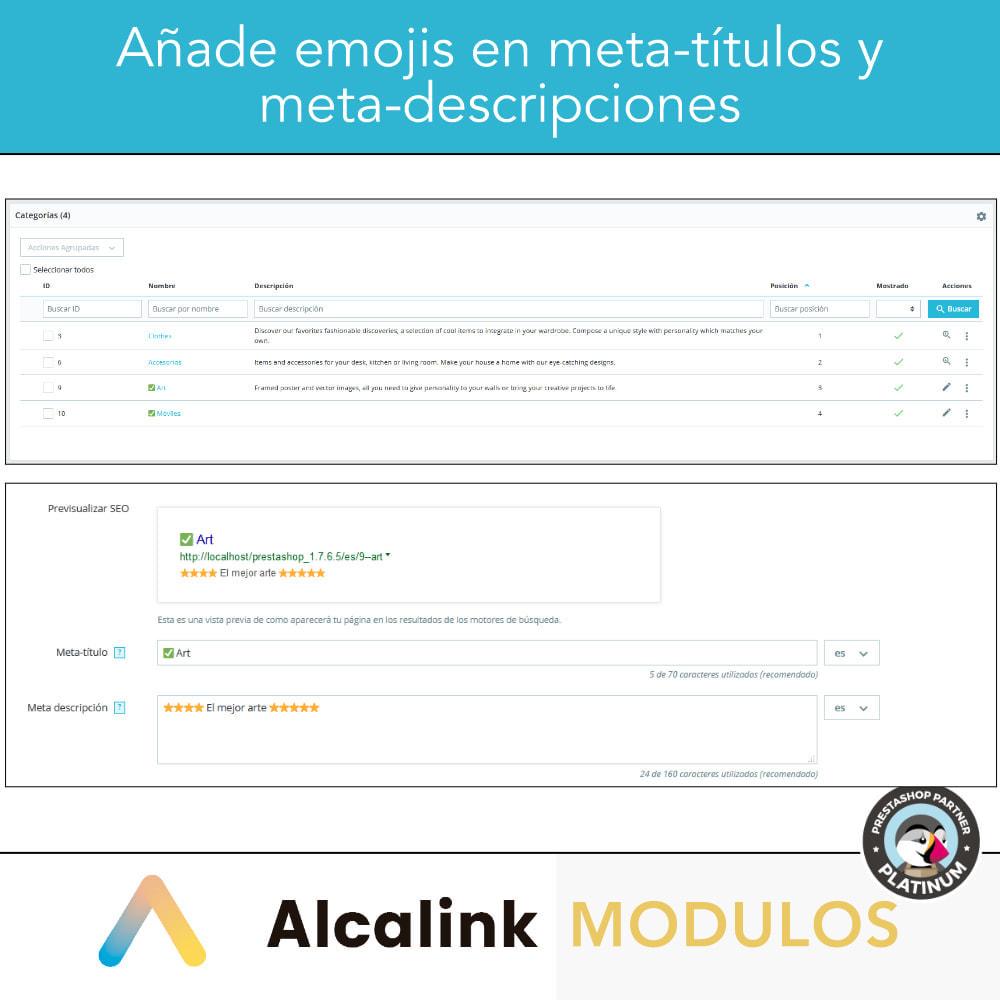 module - SEO (Posicionamiento en buscadores) - Emojis en metas (productos, categorías, CMS...) - SEO - 2