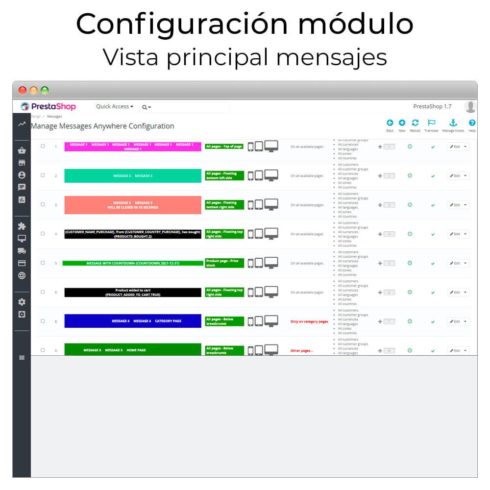 module - Personalización de la página - Mensajes en cualquier lugar - 2