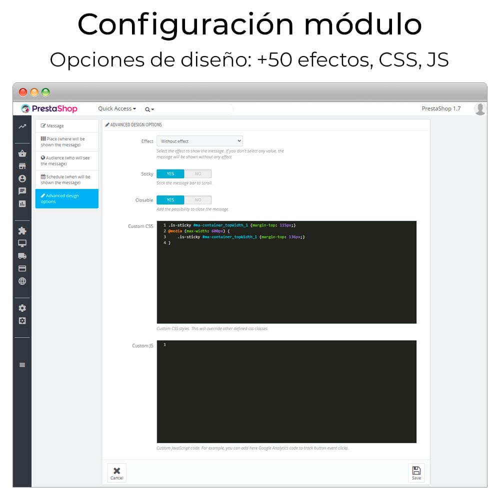 module - Personalización de la página - Mensajes en cualquier lugar - 7