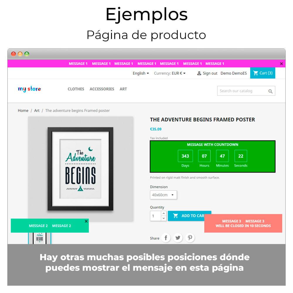 module - Personalización de la página - Mensajes en cualquier lugar - 9