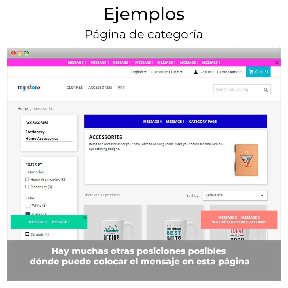 module - Personalización de la página - Mensajes en cualquier lugar - 10