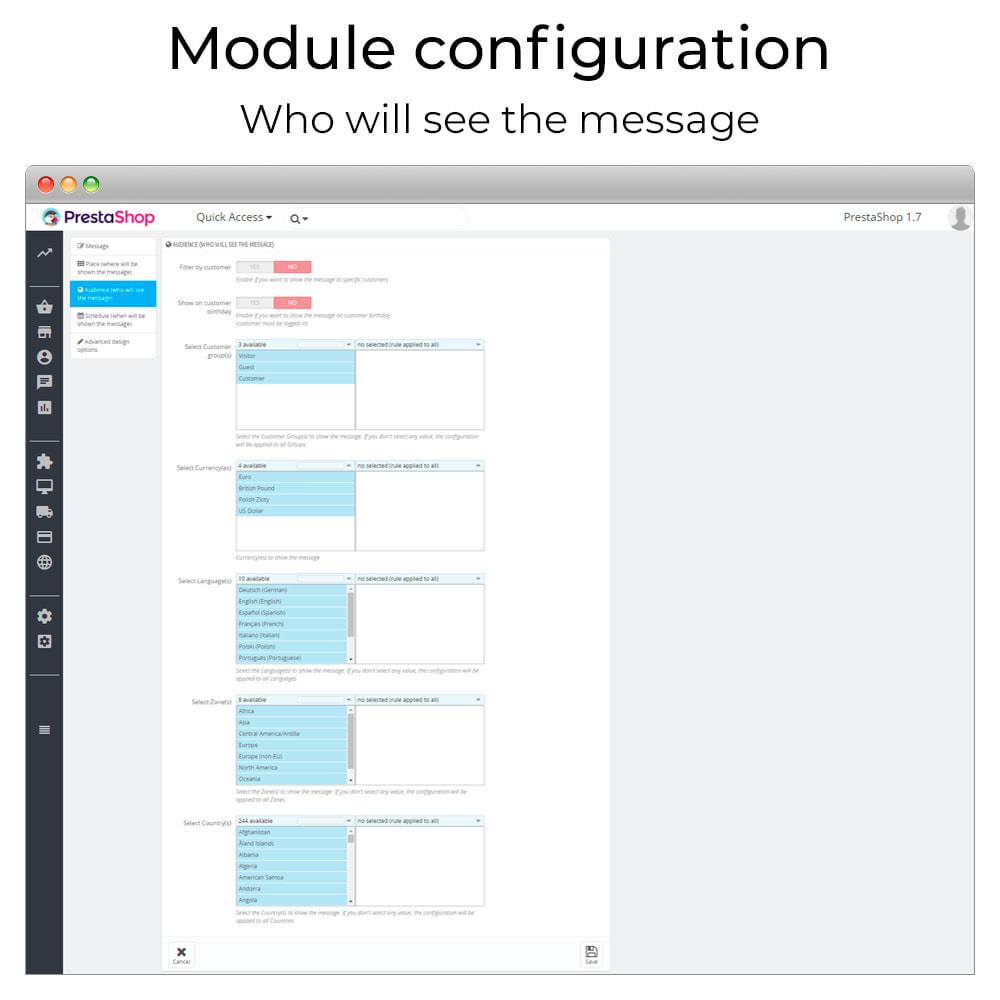 module - Personalizzazione pagine - Messages Anywhere - 5