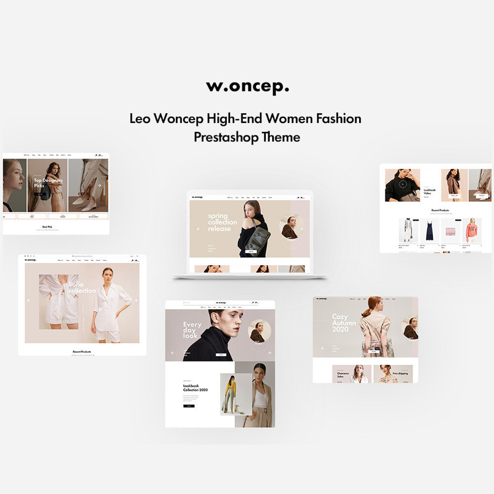 theme - Moda & Obuwie - Leo Woncep High-End Women Fashion Prestashop Theme - 1