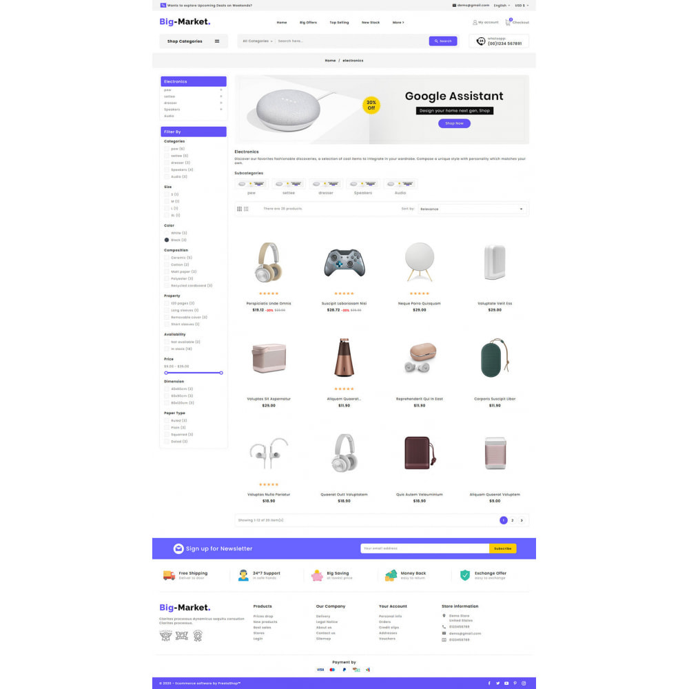 theme - Electrónica e High Tech - Big Market - Multi-purpose Mega Store - 13