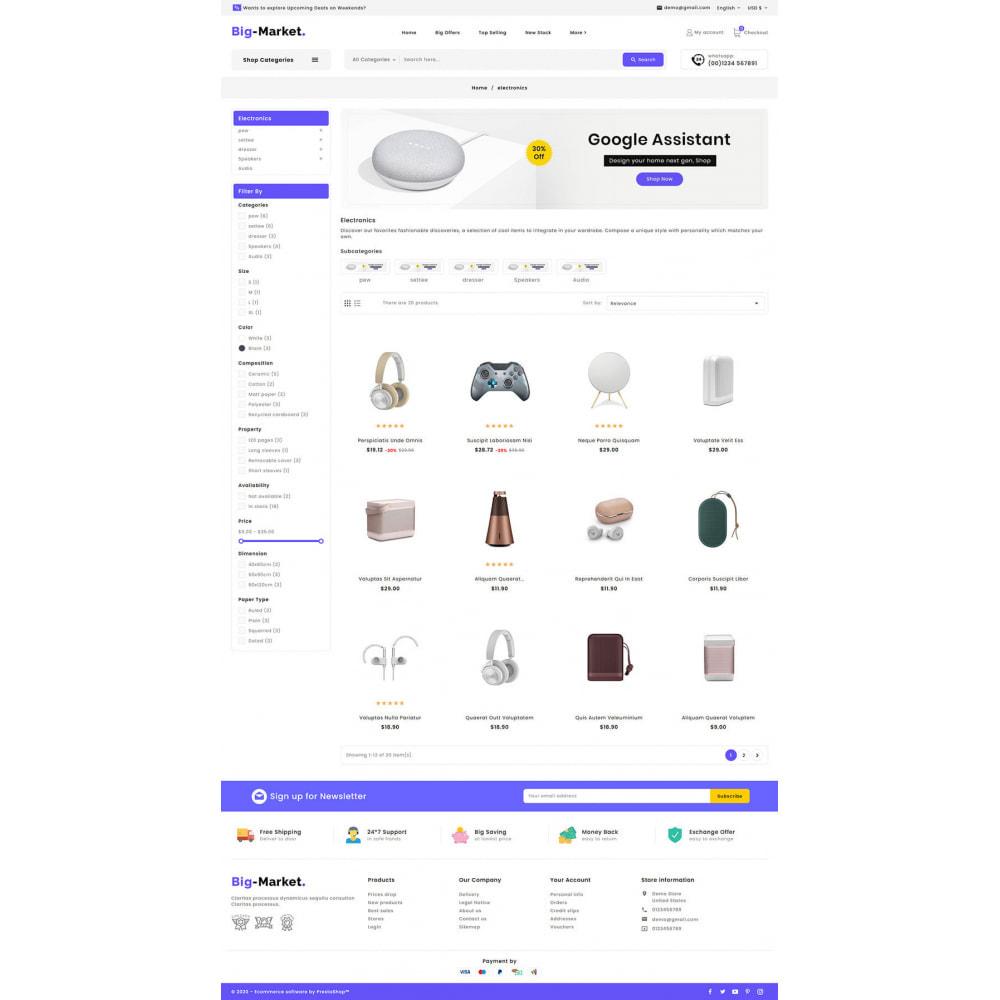 theme - Elettronica & High Tech - Big Market - Multi-purpose Mega Store - 13
