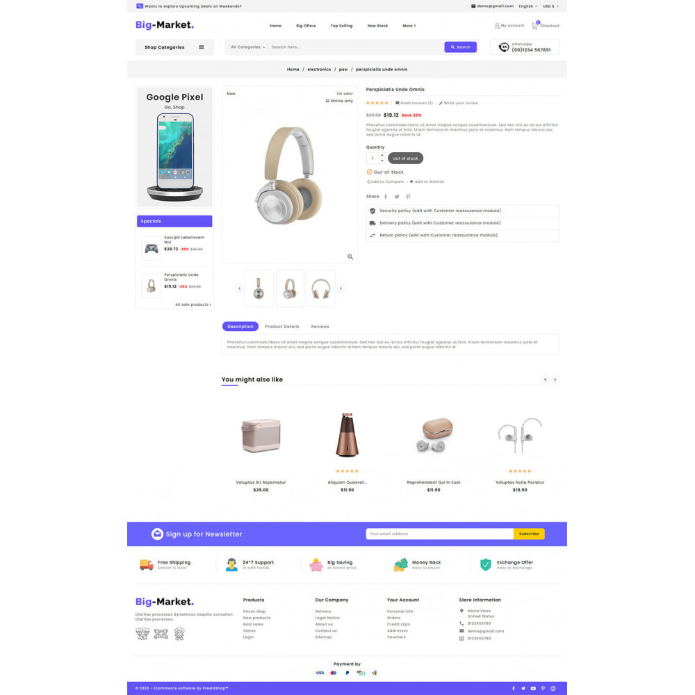 theme - Elettronica & High Tech - Big Market - Multi-purpose Mega Store - 15