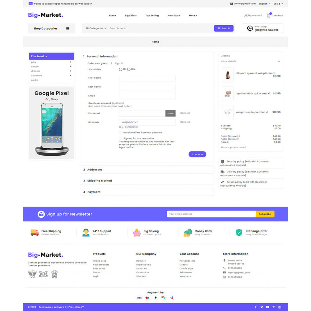 theme - Elettronica & High Tech - Big Market - Multi-purpose Mega Store - 17