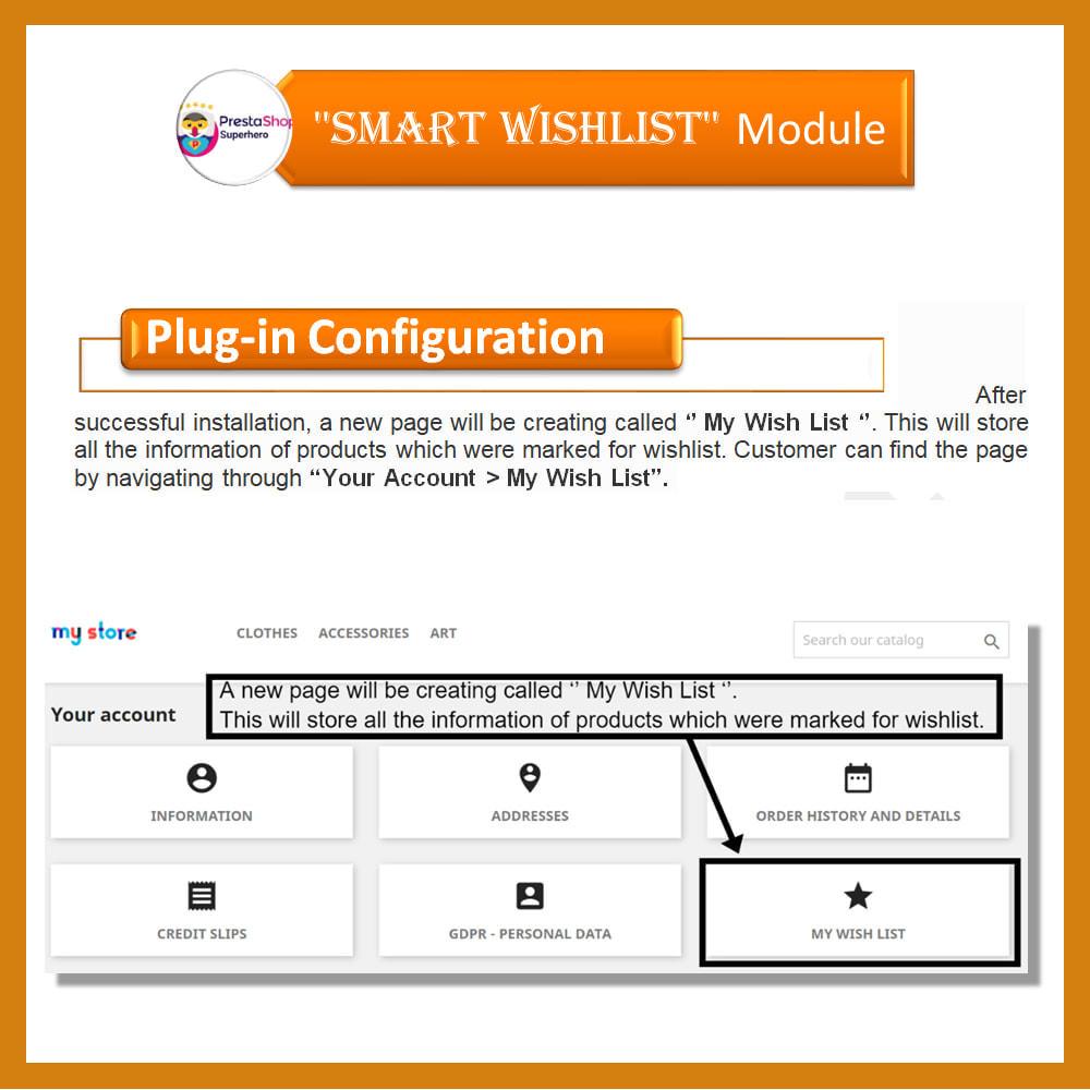 module - Lista życzeń & Karta podarunkowa - Smart Wishlist - 4