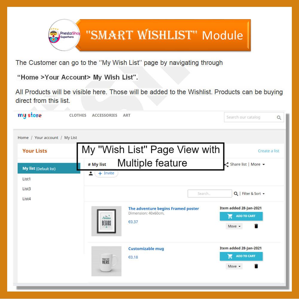 module - Lista życzeń & Karta podarunkowa - Smart Wishlist - 5