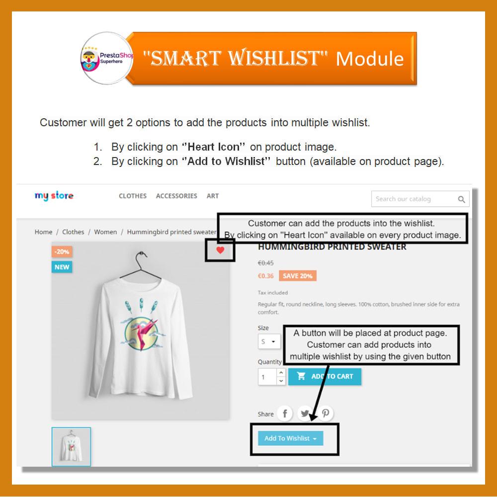 module - Lista życzeń & Karta podarunkowa - Smart Wishlist - 6