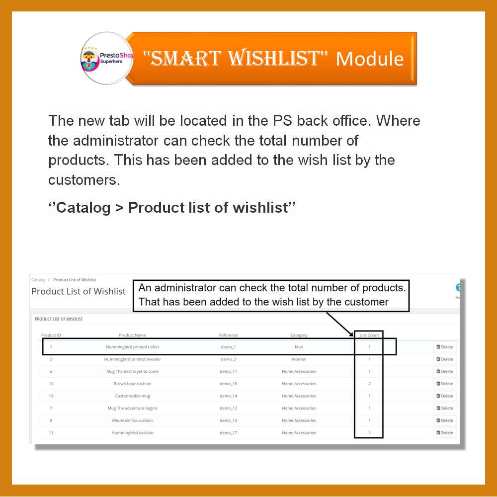 module - Lista życzeń & Karta podarunkowa - Smart Wishlist - 7