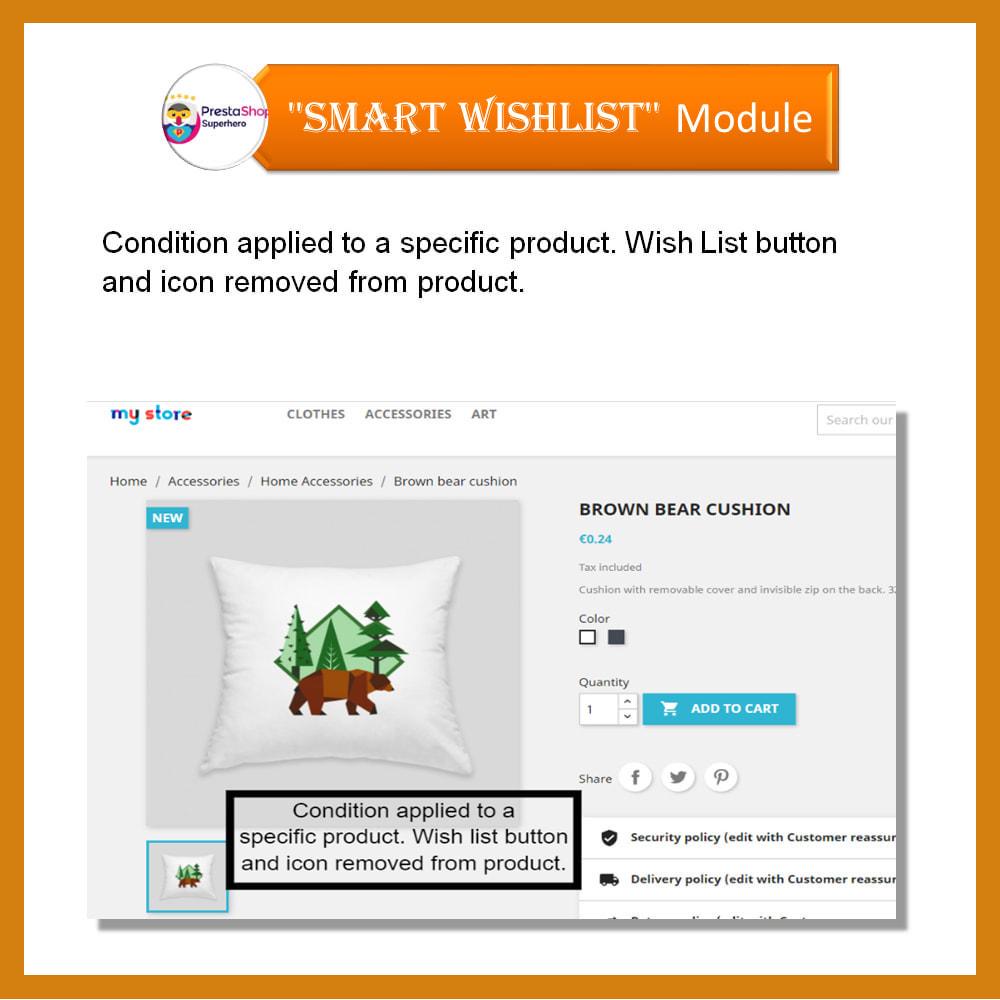 module - Lista życzeń & Karta podarunkowa - Smart Wishlist - 9