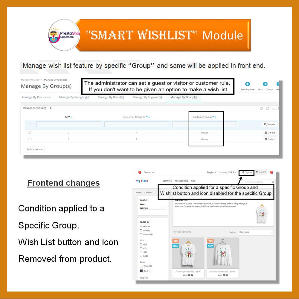 module - Lista życzeń & Karta podarunkowa - Smart Wishlist - 12