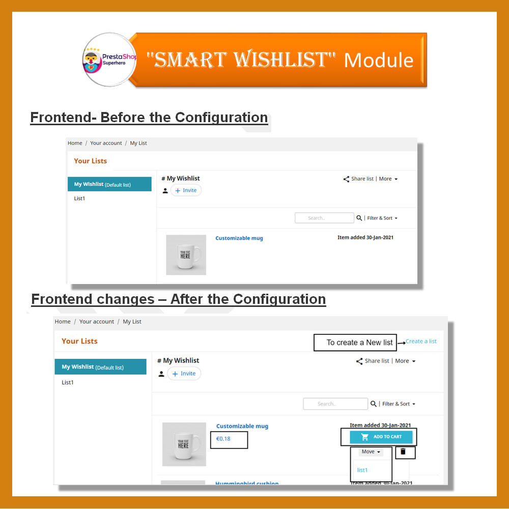 module - Lista życzeń & Karta podarunkowa - Smart Wishlist - 16