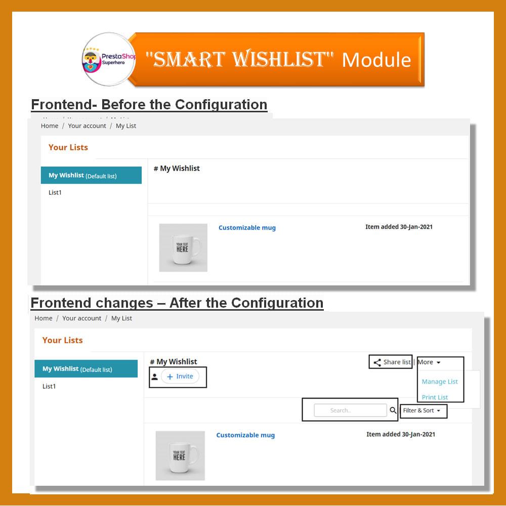 module - Lista życzeń & Karta podarunkowa - Smart Wishlist - 18